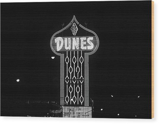 Las Vegas 1984 Bw #7 Wood Print