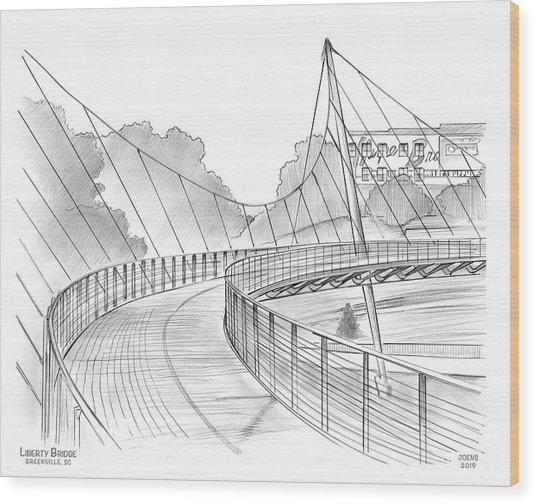 Liberty Bridge Wood Print