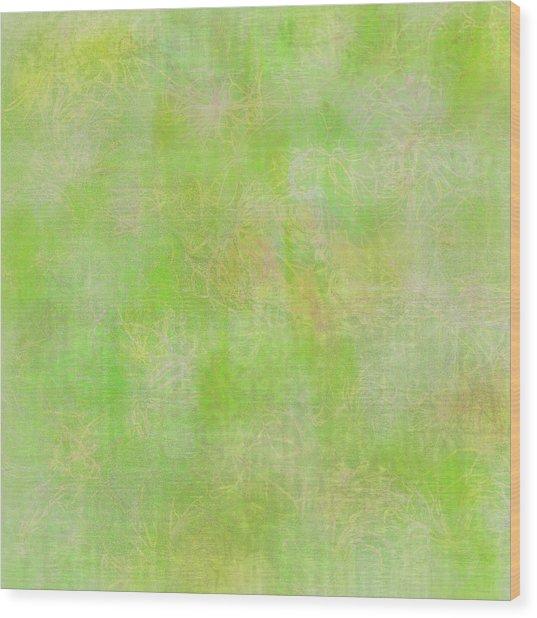 Lime Batik Print Wood Print