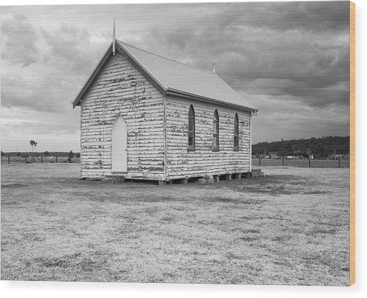 Little Paddocks Chapel Wood Print