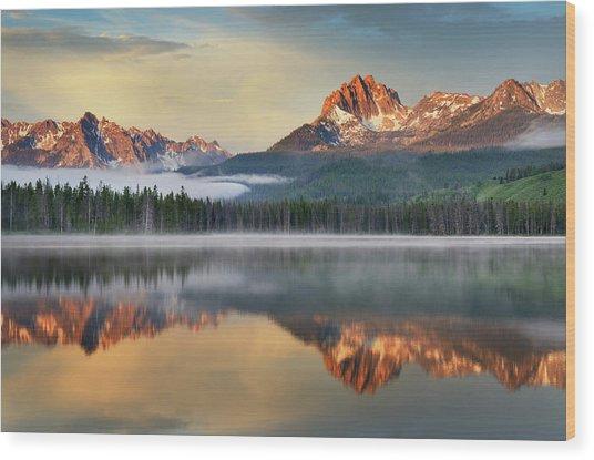 Little Redfish Lake, Sawtooth Mountains Wood Print