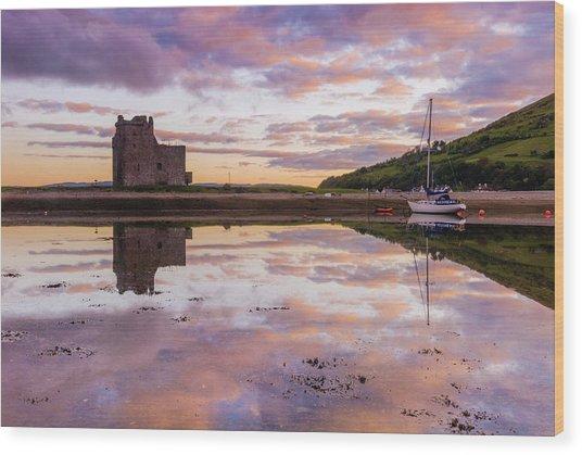 Lochranza Castle, Arran Wood Print by David Ross