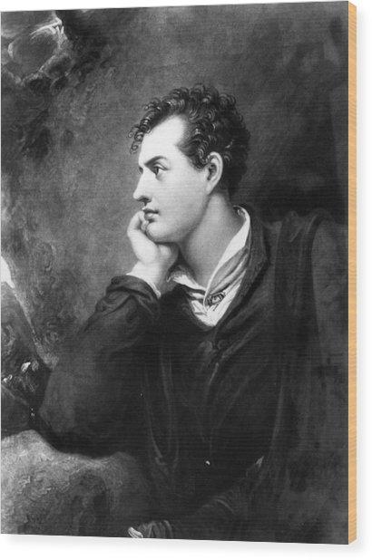 Lord Byron Wood Print by Hulton Archive