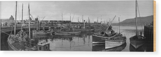 Mallaig Harbour Wood Print by Alfred Hind Robinson
