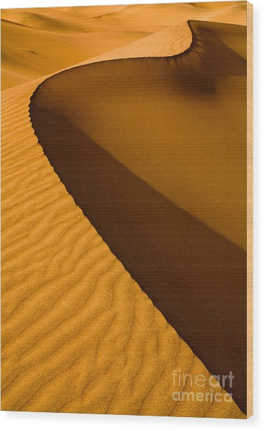 Mesquite Flat Dunes At Death Vakkey Wood Print