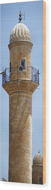 Minaret Of Ulu Cami Mosque Wood Print