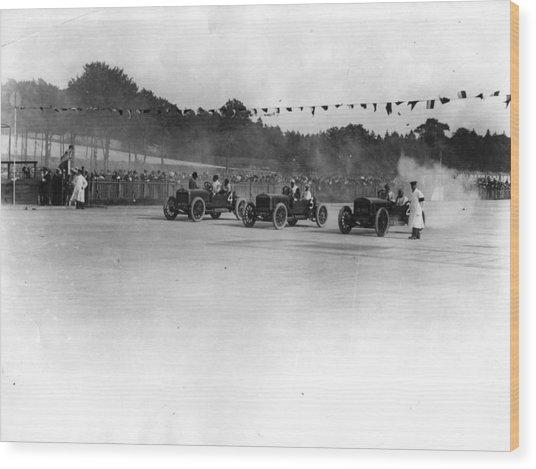 Motor Racing Wood Print by Topical Press Agency