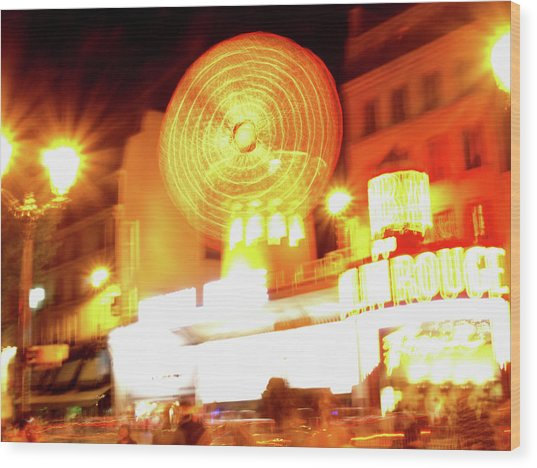 Wood Print featuring the photograph Moulin Rouge by Edward Lee