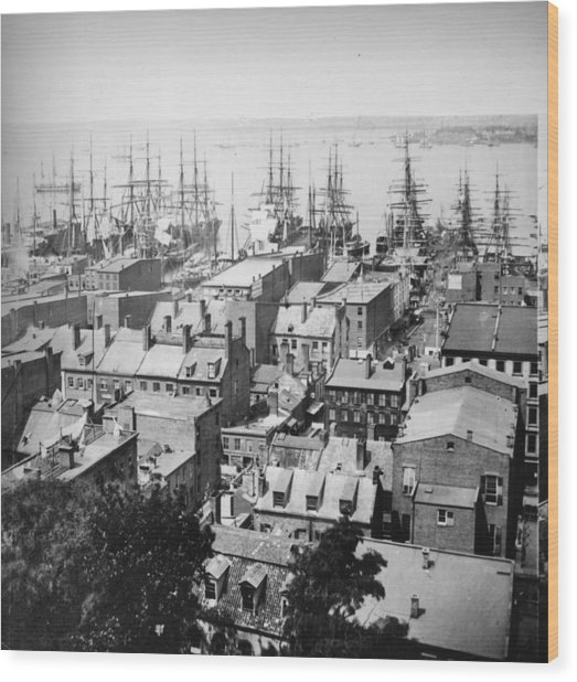 New York Harbour Wood Print by William England