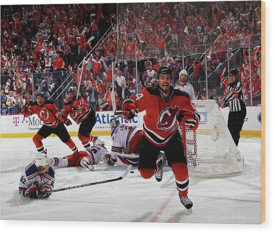 New York Rangers V New Jersey Devils - Wood Print