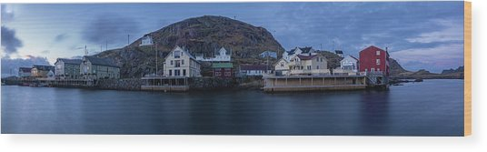 Norwegian Seaside Town Nyksund Wood Print
