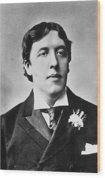 Oscar Wilde Wood Print by Alfred Ellis & Walery