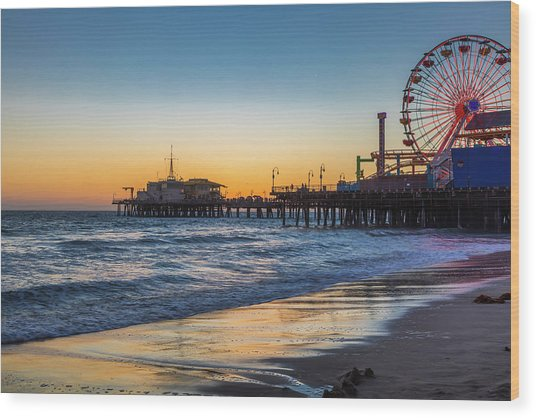 Pacific Park On The Pier Wood Print