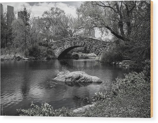 Park Bridge Wood Print