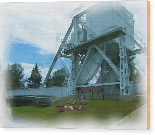 Pegasus Bridge Wood Print