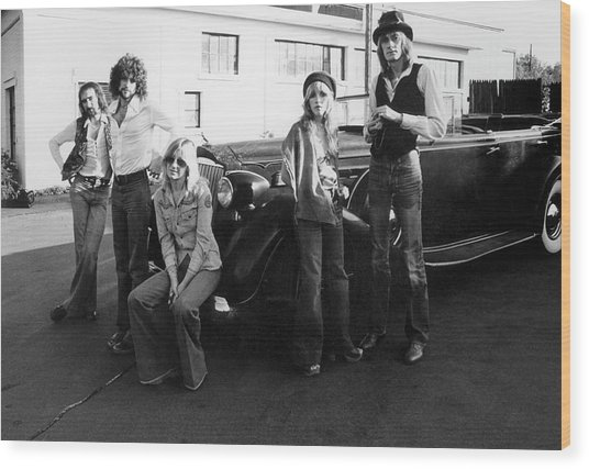 Photo Of Fleetwood Mac Wood Print by Fin Costello