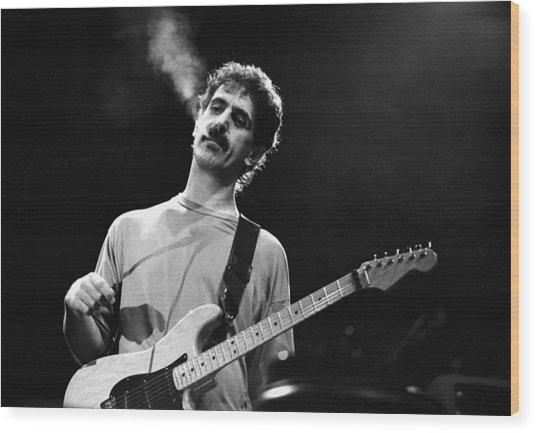 Photo Of Frank Zappa Wood Print by Paul Bergen