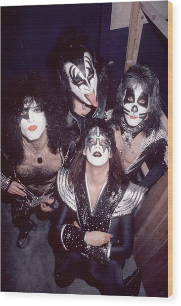Photo Of Gene Simmons And Paul Stanley Wood Print by Fin Costello