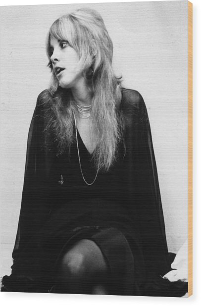 Photo Of Stevie Nicks And Fleetwood Mac Wood Print