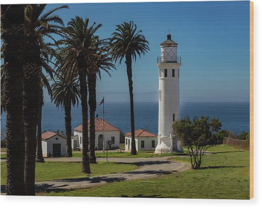 Point Vicente Lighthouse Wood Print