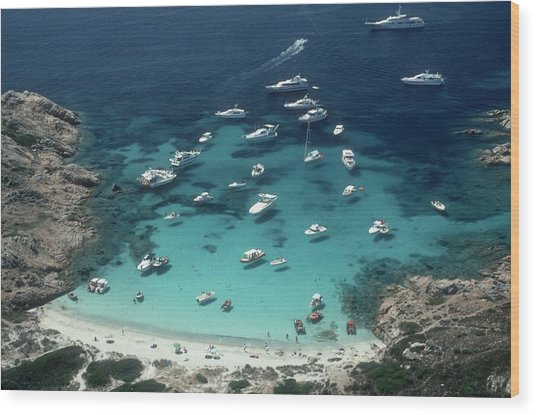 Porto Rotondo Wood Print by Slim Aarons
