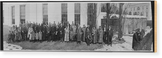 President Coolidge, Osage Indians Wood Print