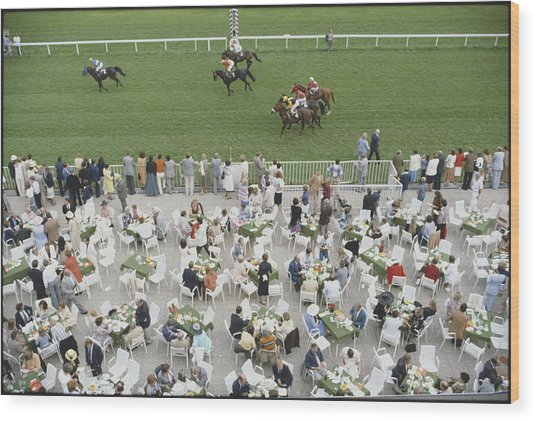 Racing At Baden-baden Wood Print