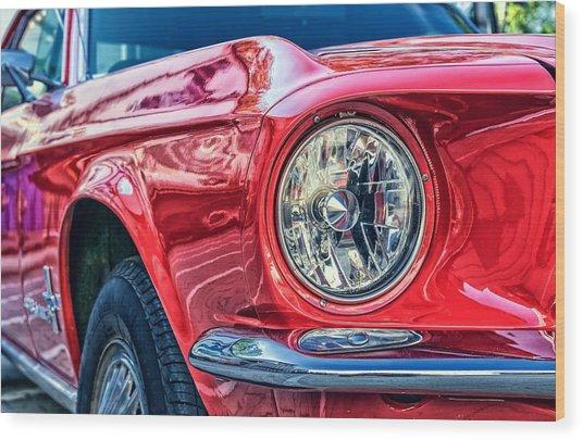 Red Vintage Car Wood Print
