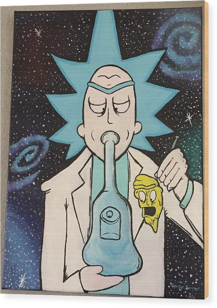 Rick And Morty  Wood Print