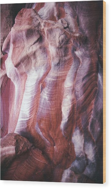 Rocky Background Wood Print by John Foxx
