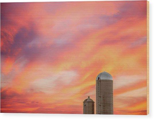 Rural Skies Wood Print