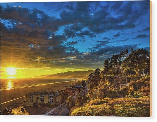 Santa Monica Bay Sunset - 10.1.18 # 1 Wood Print