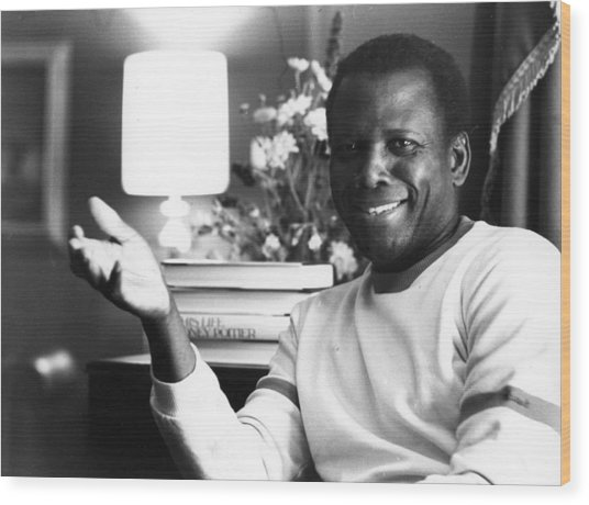 Sidney Poitier Wood Print by Evening Standard