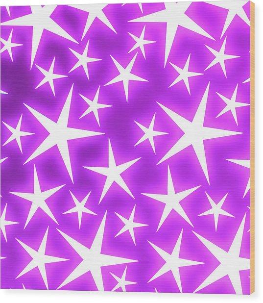 Star Burst 2 Wood Print