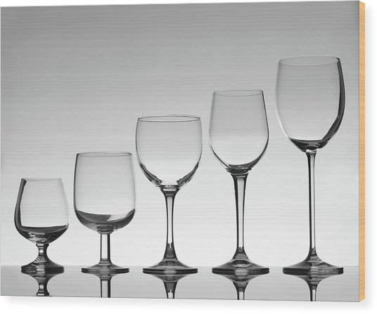 Stemware Wood Print by Donald gruener