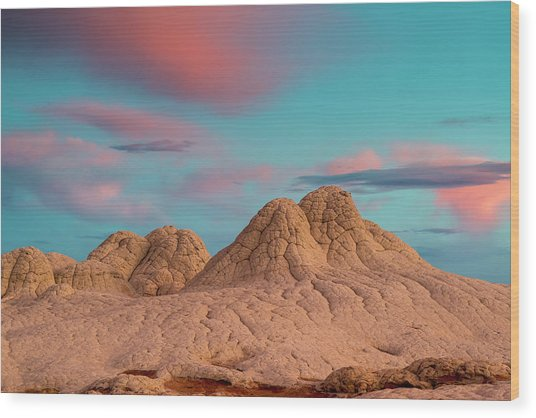 Stunning Clouds At Sunrise, Vermillion Wood Print by Howie Garber
