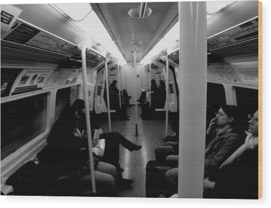 Wood Print featuring the photograph Subway by Edward Lee