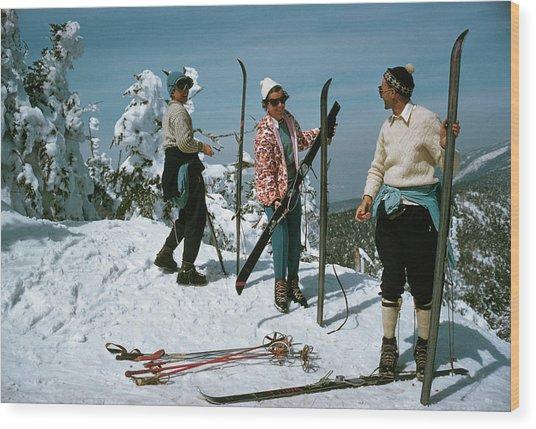 Sugarbush Skiing Wood Print by Slim Aarons