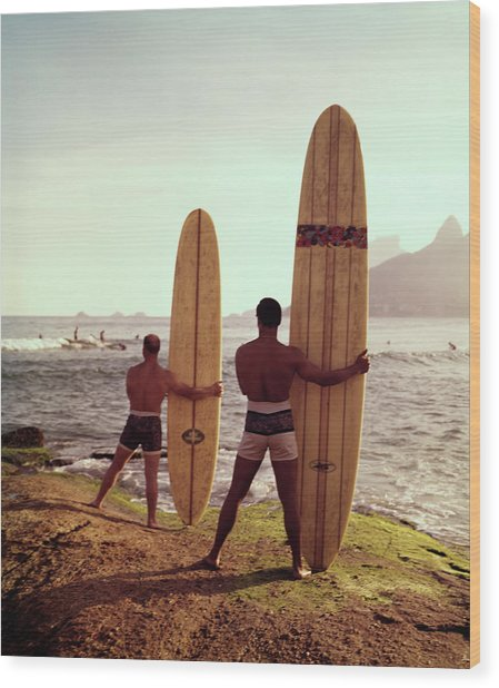 Surfboards Ready Wood Print