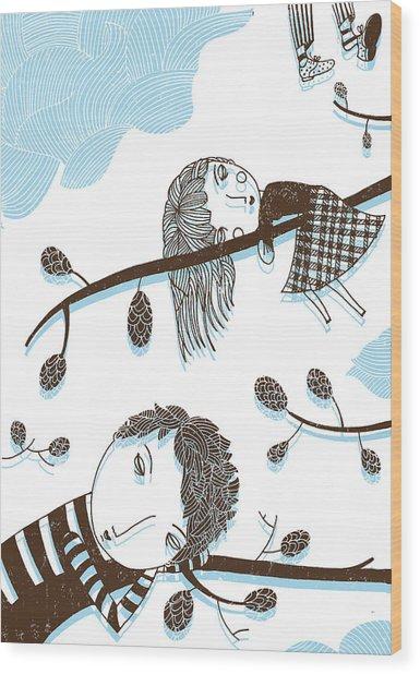 Sweet Dreams Wood Print by Luciano Lozano