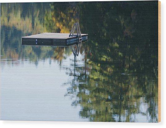 Swim Up To The Raft Wood Print