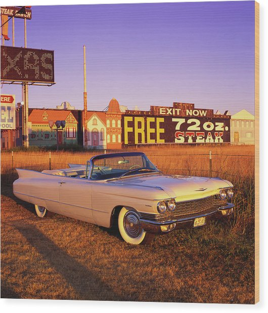 The 1960 Cadillac Series 62 Convertable Wood Print by Car Culture