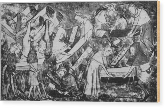 The Black Death Wood Print by Hulton Archive