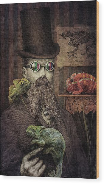 The Chameleon Collector Wood Print