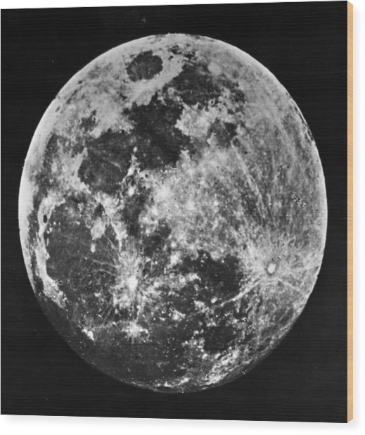 The Moon Wood Print by J. W. Draper