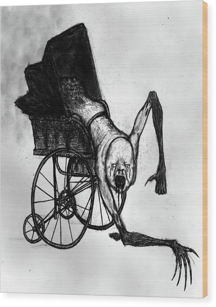 The Nightmare Carriage - Artwork Wood Print
