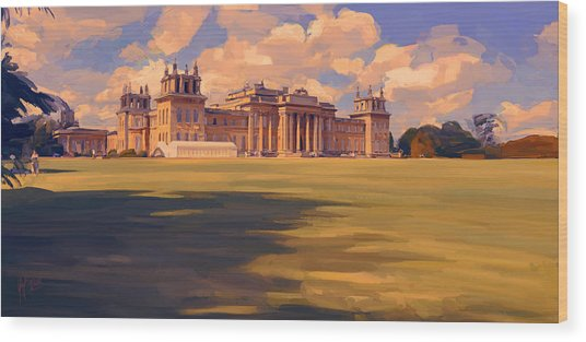 The White Party Tent Along Blenheim Palace Wood Print