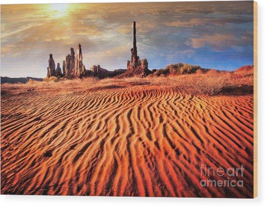 Totem Dunes Wood Print