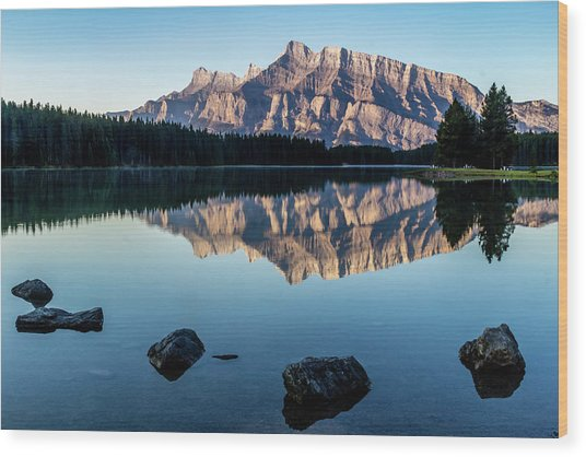 Two Jack Lake, Banff National Park, Alberta, Canada Wood Print