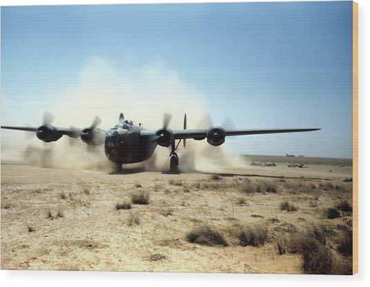 U.s Airforce Base Benghazi Libya Wood Print by Michael Ochs Archives